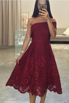 Elegant Lace Prom Dresses,Sexy Prom Gowns,Burgundy Evening Dress,Formal