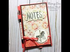 Monday Montage 88 (The Stamp Doc) Diy Notebook, Notebook Covers, Homemade Calendar, Carousel Birthday, Post It Note Holders, Scrapbook Paper, Scrapbooking, Wallet Tutorial, Craft Show Ideas