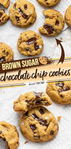 Craving a sweet treat? Make this small batch dessert recipe! Thanks to brown sugar, these soft and chewy chocolate chip cookies have a deliciously rich caramel taste you are going to love. Save this…