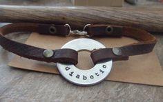 Men's Medical Alert Leather Bracelet - Personalized Mixed Metal - Diabetic Allergies Pacemaker Drug Sensitivity Alzheimers on Etsy, $52.00