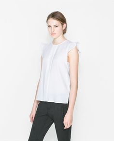 ZARA - WOMAN - TOP WITH FRILLY SLEEVES