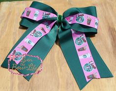 Starbuck's Cheer Bow by LivinTheBowLife on Etsy https://www.etsy.com/listing/246963126/starbucks-cheer-bow