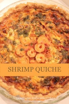 Served with a crisp salad this Shrimp Quiche is a substantial main dish! Filled with shrimp caramelized red onion tomato oregano and fresh dill this quiche has a delicious Italian twist. Easy Family Meals, Easy Meals, Family Recipes, Shrimp Quiche, Food Dishes, Main Dishes, Recipes Using Egg, Breakfast Meat, Fresh Dill
