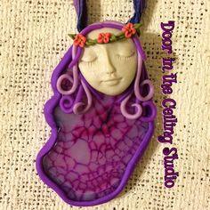 Polymer Clay Flower Child OOAK Hand Sculpted by DoorInTheCeiling