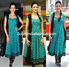 Shilpa Reddy in Blue Anarkali