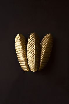 Elegant, artistic and really unique we designed this Wall Light to complement and add a touch of sophistication and eclecticism to your interiors. Gold Wall Lights, Rockett St George, Statement Wall, Gold Walls, Tropical Leaves, Lampshades, Bedroom Wall, Interiors, Touch
