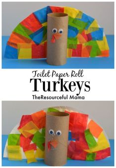 Thanksgiving turkey kid craft using a few of our favorite crafting supplies: toilet paper rolls, paper plates, and tissue paper!My preschooler loved making her turkey! I have to try this with my grand children next Thanksgiving! Thanksgiving Crafts For Kids, Holiday Crafts, Holiday Fun, Fun Crafts, Thanksgiving Turkey, Halloween Kid Crafts, Fall Crafts For Toddlers, Thanksgiving Prayer, Thanksgiving Appetizers