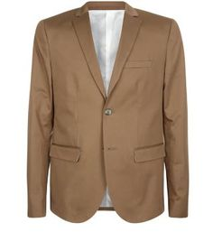 The Light Brown Sateen Blazer's neutral shade means you can wear it with pretty much anything. #newlook #menswear