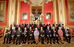 The world's most exclusive club: Members of the Order of Merit were invited to lunch yesterday at Windsor Castle by the Queen. The meeting happens once every five years