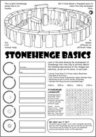Stone and Bronze age Activity Sheet - © Nash Ford Publishing