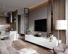 Este posibil ca imaginea să conţină: masă şi interior Living Room Tv, Interior Design Living Room, Home And Living, Living Room Designs, Apartment Interior, Apartment Design, Apartment Living, Küchen Design, Small Apartments
