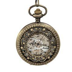 O.R.® (Old Rubin) Montre à Gousset Vintage Squelette Mécanique montre de poche Cadeau Montre sur Chaîne de 35.5cm: O.R.® (Old Rubin): Amazon.fr: Montres