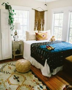 Cozy White Warm Bohemian Bedrooms Bohemian Bedrooms And