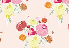 Ranunculus Pattern | Agnes & Hoss: pattern design, illustration, and interiors