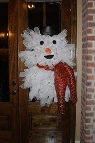 """""""Frosty The Snowman"""" Wreath....Make a statement on your front door!  Oh-So CUTE!"""