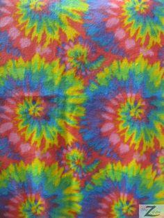 Assorted Print Polar Fleece Fabric Tie Dye Sold By by BigZFabric, $4.99