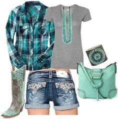 Me shorts, cute country outfits, country girl style, country fashion, cute Country Girl Outfits, Country Girl Style, Country Fashion, Country Girls, My Style, Country Wear, Miss Me Shorts, Miss Me Jeans, Cute Fashion