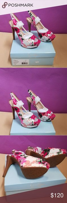 Jessica Simpson SABELLA Soft Pink Combo w/ a foral print. Spice up your outfit with these elegant floral print. Jessica Simpson Shoes Sandals