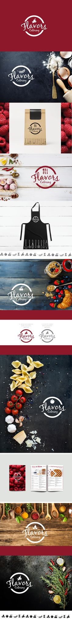 Flavors catering: Dynamic logo project + website
