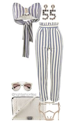 """""""Untitled #2764"""" by highfashionfiles on Polyvore featuring Chanel, Walk of Shame, Topshop, Giuseppe Zanotti and Prada"""