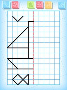 iPad App: Symmetry Exercises for Kids Lite by Alexandre Minard Maze Worksheet, Fun Worksheets, School Worksheets, Fun Educational Games, First Iphone, Coding For Kids, Exercise For Kids, Drawing For Kids, Math Lessons