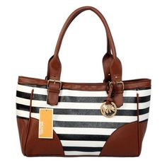 Welcome To Our Michael Kors Striped Medium Black Satchels Online Store
