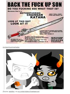 "Dirk and Kanaya grab hands and whisper in unison, ""I need it."""
