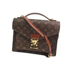 louis vuitton monogram monceau crossbody bag  vintage condition with wear to corners  asking $720  comment for more information or to purchase this item
