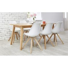 Modern Dining Set Design Ideas With 6 Seater - TopDesignIdeas White Dining Set, Oak Dining Sets, Corner Dining Set, Round Dining Set, Dining Furniture Sets, Furniture Board, Buy Dining Table, Wooden Table And Chairs, Oak Table