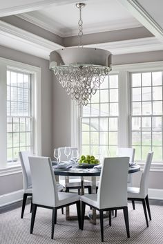 Semerjian Interiors - Breakfast room with Tray Ceiling