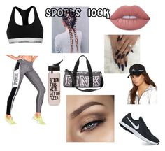"""Sports look"" by heyitzfran on Polyvore featuring Victoria's Secret, Calvin Klein, ban.do, Lime Crime, NIKE and adidas"