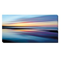 Vibrant energy interpreted through color enhances the brilliant nature of the Northern Sky. Created onto artist grade canvas and UV coated to prevent fading. The stretched canvas has natural colored edges and is stretched using a spline finish.