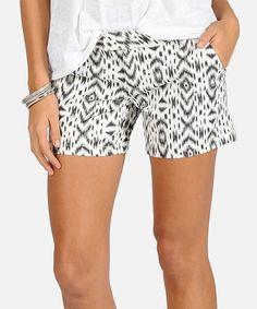 Cream Frochickie Shorts by Volcom #zulily #zulilyfinds