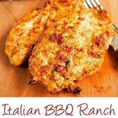 Italian BBQ Ranch Grilled Chicken