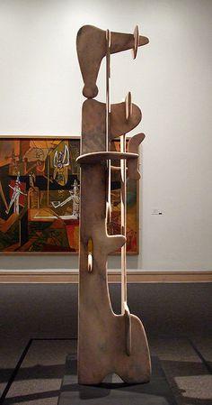 Kouros, 1944–45 Isamu Noguchi (American, 1904–1988) Marble; H. 117 in. (297.2 cm), base: D. 34 1/8 in. (86.7 cm), W. 42 in. (106.7 cm)