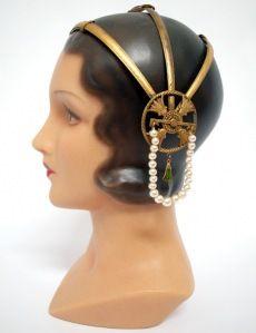 Art Deco Egyptian headpiece