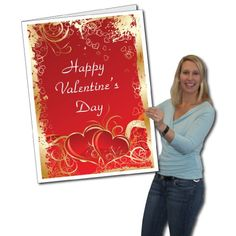 2'x3' Giant Valentine's Day Card W/Envelope Printed in Full Color Comes with it's own sturdy cardboard envelope