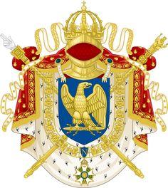Armoiries impériales du Premier Empire français (1804-1815), sous Napoléon Bonaparte.                                                                                                                                                                                 Plus