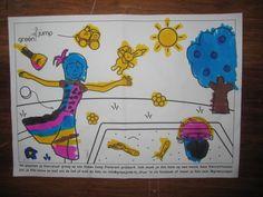 En ook Janna van vier heeft vrolijk zitten kleuren!