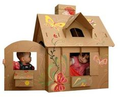 Cardboard playhouse house ideas DIY