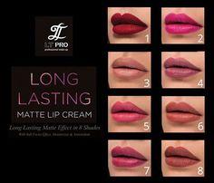 """LT PRO Long Lasting Matte Lips Cream"" dengan pilihan 8 warna terbaik. #LTPROCosmetique #LTPROLongLastingMatteLipCream #lipstickIndonesia #KosmetikIndonesia #LipstickBerkualitas"