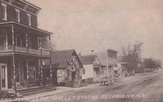 Looking toward the trolley station on Main Street in Redwood.