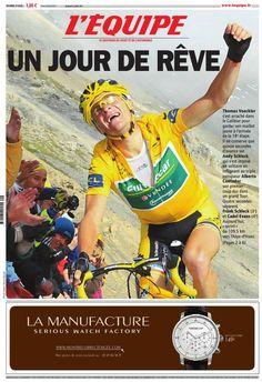 L'Équipe - Vendredi 22 Juillet 2011 - N° 20828