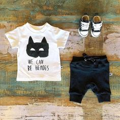 BABY • Minti SS15 heroes tee, track shorts & Converse Baby Chucks. Shop these styles at Tiny Style in Noosa & online •  www.tinystyle.com.au