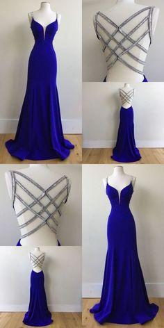 Royal Blue Prom Dresses, Cute Prom Dresses, Backless Prom Dresses, Dance Dresses, Ball Dresses, Elegant Dresses, Homecoming Dresses, Beautiful Dresses, Ball Gowns