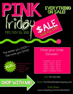 It isn't BLACK Friday when you're in MARY KAY! It's PINK FRIDAY! #marykay