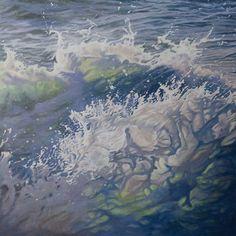Mandy Lake, Awakening, oil on canvas, 2017 Lake Painting, Awakening, Oil On Canvas, Waves, Acrylics, Paintings, Outdoor, Image, Art