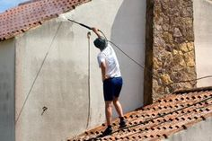 """How To Clean Siding Home Siding Care And Maintenance Beware on the Pressure washer to Hide the """"0"""" tip..  it will put grooves in wood, concrete ....  too much power"""
