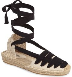 db7a0ef6508 Main Image - Soludos Lace-Up Espadrille Sandal (Women) Lace Up Espadrille  Sandals