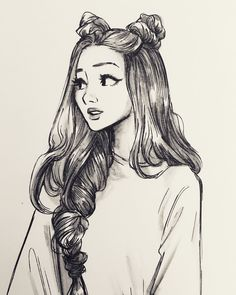 hair sketch tutorial step by step . Girl Drawing Sketches, Girly Drawings, Art Drawings Sketches Simple, Pencil Art Drawings, Cool Drawings, Tumblr Sketches, Drawing Tips, Pencil Sketches Of Girls, Girl Drawing Pictures